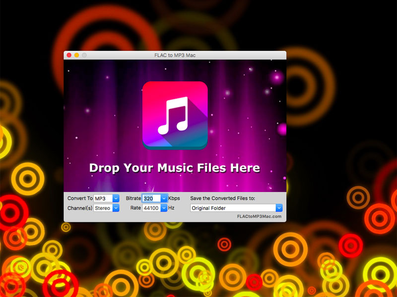 Convert FLAC to MP3 format on Mac OS.